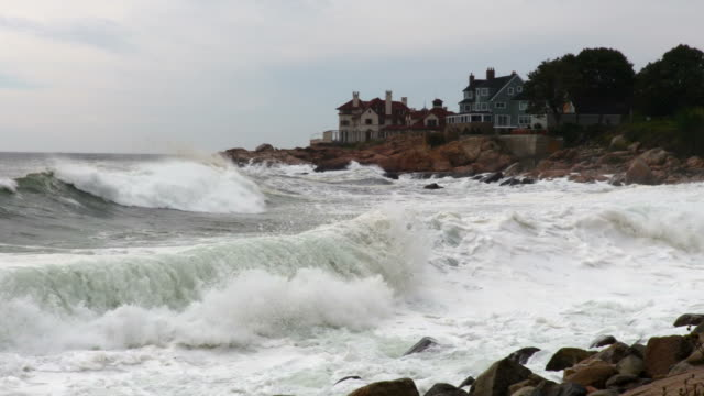 large waves on the massachusetts coast - gloucester massachusetts stock videos & royalty-free footage