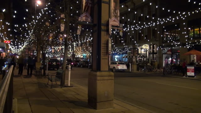 larimer square at night - denver stock videos and b-roll footage