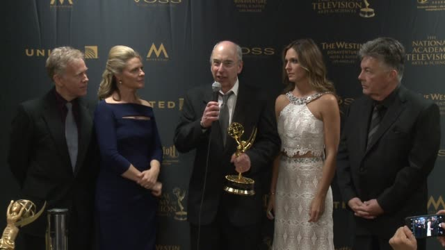 SPEECH Larry Carpenter William Ludel and members of the General Hospital crew at 43rd Annual Daytime Emmy Awards at Westin Bonaventure Hotel on May...