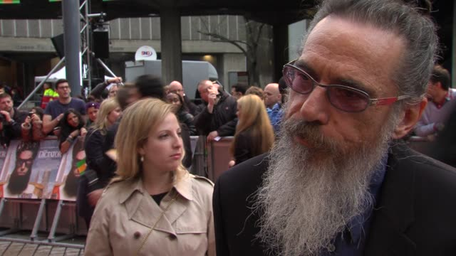larry charles on making films for sacha baron cohen, the difference, making controversial films at the dictator: world premiere at the royal festival... - royal festival hall stock videos & royalty-free footage