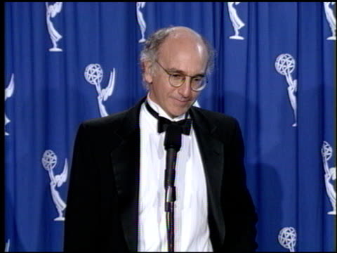 Larry David at the 1993 Emmy Awards entrances and Press Room at the Pasadena Civic Auditorium in Pasadena California on September 19 1993