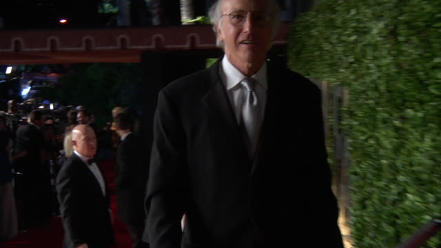 larry david at the 2011 vanity fair oscar party inside at hollywood ca. - vanity fair oscar party stock videos & royalty-free footage