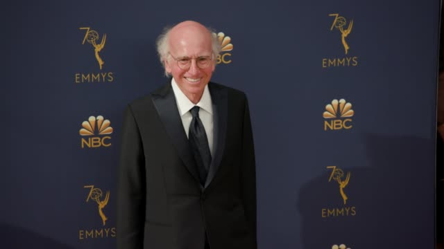 larry david at the 70th emmy awards arrivals at microsoft theater on september 17 2018 in los angeles california - emmy awards stock videos & royalty-free footage