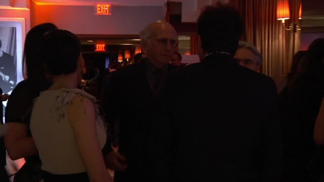 larry david at the inside the vanity fair oscar party 2010 at west hollywood ca - oscar party stock videos & royalty-free footage