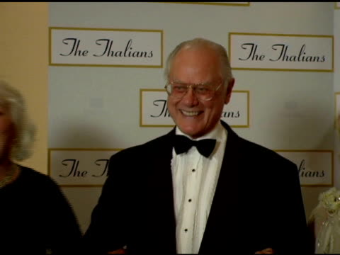 larry hagman at the 50th anniversary of the thalians at the century plaza hotel in century city california on october 8 2005 - thalians annual ball stock videos & royalty-free footage