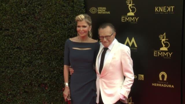 Larry King and Shawn King at the 2018 Daytime Emmy Awards at Pasadena Civic Auditorium on April 29 2018 in Pasadena California