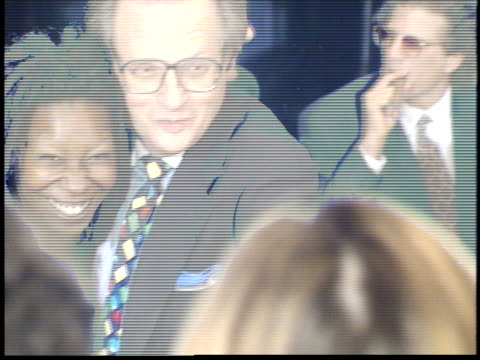 larry king and whoopi goldberg posing on red carpet - friars roast 1993 stock videos and b-roll footage