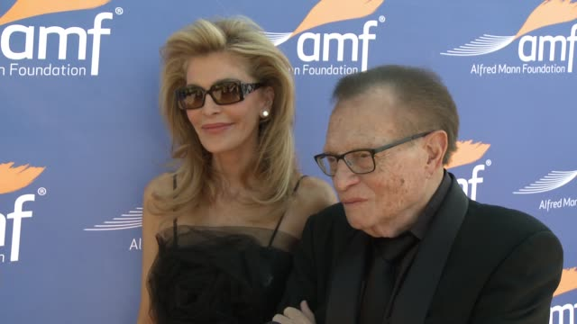 INTERVIEW Larry King and wife Shawn on the event Alfred Mann at Alfred Mann Foundation's An Evening Under the Stars with Andrea Bocelli in Los...