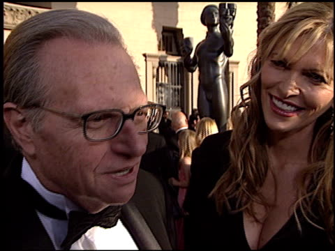 stockvideo's en b-roll-footage met larry king at the 2003 screen actors guild sag awards at the shrine auditorium in los angeles california on march 9 2003 - screen actors guild awards
