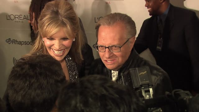 larry king at the clive davis' pre-grammy awards party arrivals at the beverly hilton in beverly hills, california on february 7, 2006. - clive davis stock videos & royalty-free footage