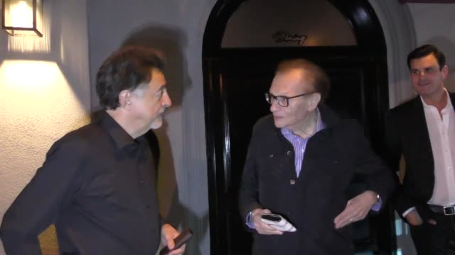 Larry King Joe Mantegna outside Craig's in West Hollywood in Celebrity Sightings in Los Angeles
