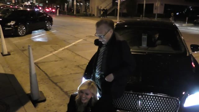 Larry King Shawn King outside Craig's Restaurant in West Hollywood in Celebrity Sightings in Los Angeles