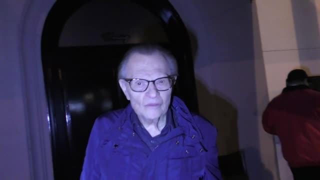 larry king talks about the eagles winning the super bowl outside craig's restaurant in west hollywood in celebrity sightings in los angeles, - philadelphia eagles stock videos & royalty-free footage