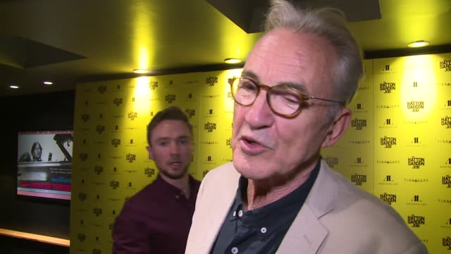 interview larry lamb on the crime the location and getting old at curzon soho on april 11 2017 in london england - bankräuber stock-videos und b-roll-filmmaterial