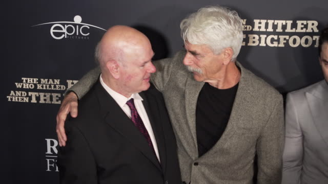 """larry miller and sam elliott at the """"the man who killed hitler and then the bigfoot"""" los angeles premiere at arclight hollywood on february 04, 2019... - sam elliott stock videos & royalty-free footage"""