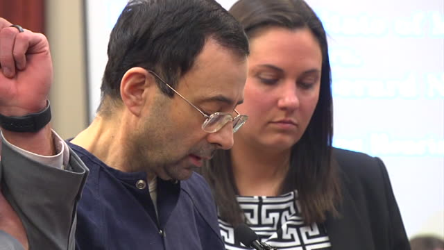 larry nassar, the former sports doctor who admitted molesting some of the nation's top gymnasts for years was sentenced to 40 to 175 years in prison... - doctor who stock videos & royalty-free footage