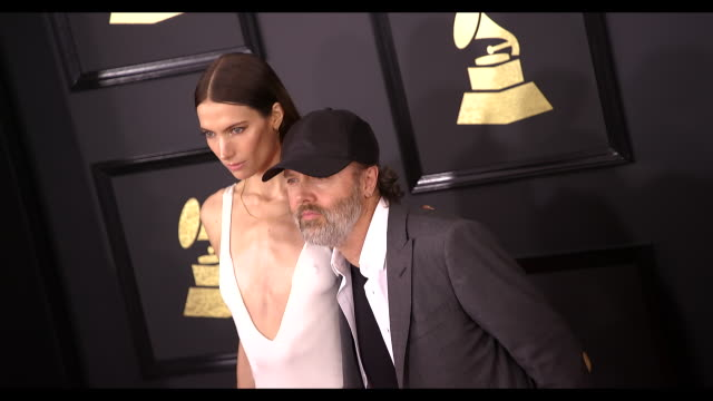Lars Ulrich and Jessica Miller at the 59th Annual Grammy Awards Arrivals at Staples Center on February 12 2017 in Los Angeles California 4K