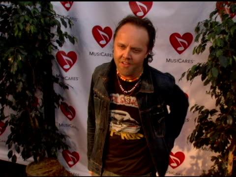 lars ulrich at the 2nd annual musicares map fund benefit concert at the henry fonda theater in hollywood california on may 12 2006 - benefit concert stock videos and b-roll footage