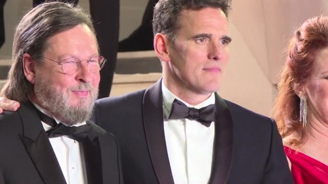 lars von trier and matt dillon walk the red carpet at cannes for a special screening of the outofcompetition film the house that jack built - 71st international cannes film festival stock videos & royalty-free footage