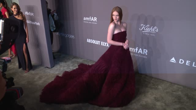 Larsen Thompson at the 20th Annual amfAR Gala New York at Cipriani Wall Street on February 07 2018 in New York City