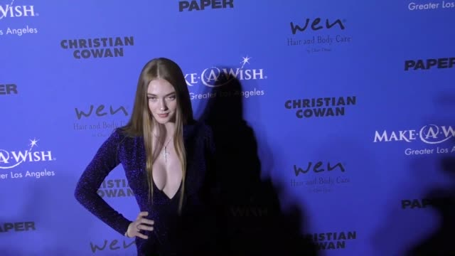 larsen thompson at the paper magazine runway benefit for makeawish foundation on october 24 2017 in los angeles california - magazine stock videos & royalty-free footage