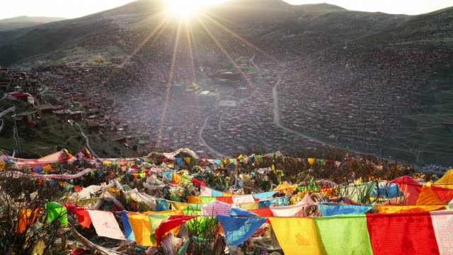 Larung Gar(Larung Five Sciences Buddhist Academy). a famous Lamasery in Seda, Sichuan, China.