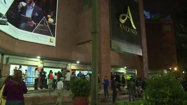 las autoridades de colombia capturaron a ocho personas por su presunta participacion en el atentado que hace una semana dejo tres mujeres fallecidas... - centro comercial stock videos & royalty-free footage