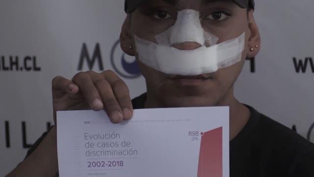vídeos de stock e filmes b-roll de las denuncias por homofobia aumentaron un 44% en 2018 respecto al 2017 en chile la mayor alza de casos de discriminacion en los ultimos 17 anos segun... - homofobia
