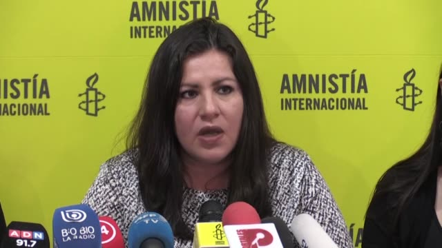 las fuerzas de seguridad chilenas estan cometiendo ataques generalizados y usando la fuerza de manera innecesaria y excesiva para castigar a la... - amnesty international stock videos & royalty-free footage