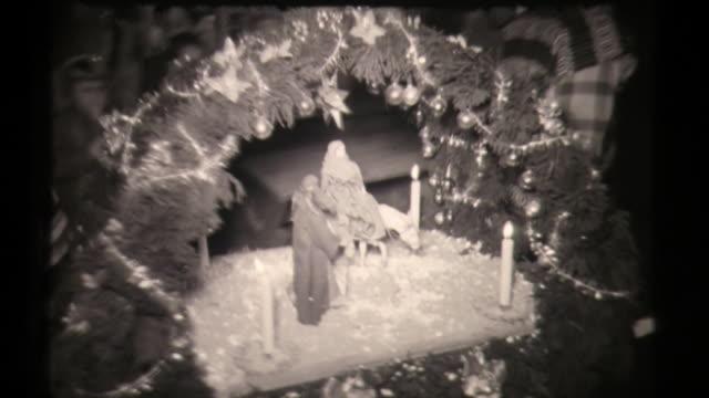 las posadas mexico christmas procession, holiday celebration with maria and pinata - papier stock videos & royalty-free footage