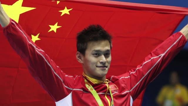 vídeos y material grabado en eventos de stock de las pruebas de natacion de rio 2016 el lunes dejaron oros para el chino sun yang la hungara katinka hosszu y la estadounidense lilly king - ee.uu