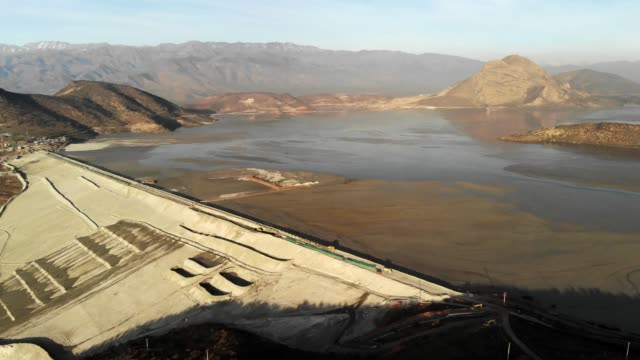 las tortolas dam in central chile - dam stock videos & royalty-free footage