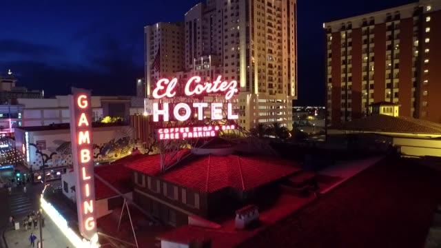 las vegas downtown night - the strip las vegas stock videos & royalty-free footage