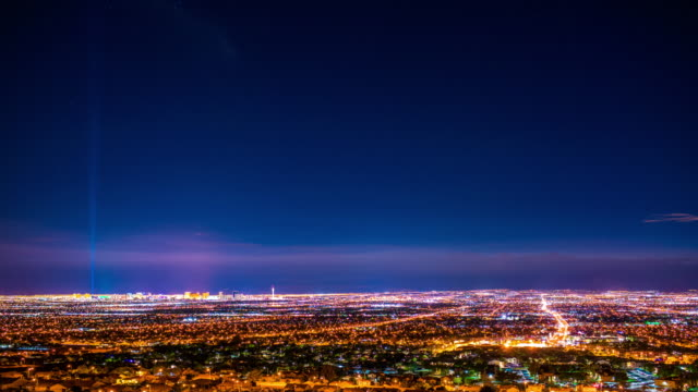 las vegas from frenchman mountain time lapse 4k - las vegas stock videos & royalty-free footage