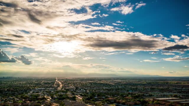 Las Vegas from frenchman mountain time lapse 4K