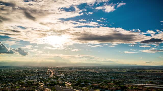 ラスベガスから フランス人 山低速度撮影 4 K