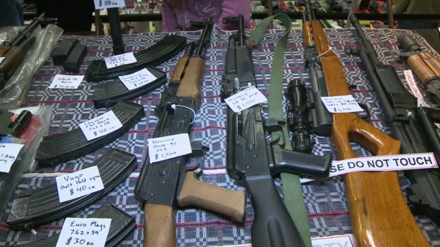 las vegas gun show vendors selling guns ammunition las vegas gun show on january 19 2013 in las vegas nevada - ammunition stock videos & royalty-free footage
