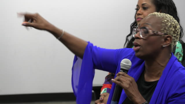 las vegas, nevada, usa: nina turner campaigns for democratic presidential nominee hopeful bernie sanders during the women for bernie climate change... - politician stock videos & royalty-free footage