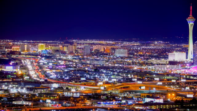 las vegas, nv: interstate i-15 traffic - the palazzo las vegas stock videos & royalty-free footage