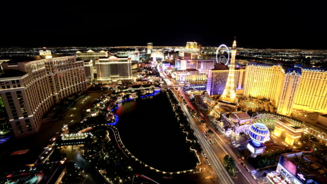 las vegas, nv - the strip las vegas stock-videos und b-roll-filmmaterial