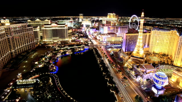 las vegas, nv - the strip las vegas stock videos and b-roll footage