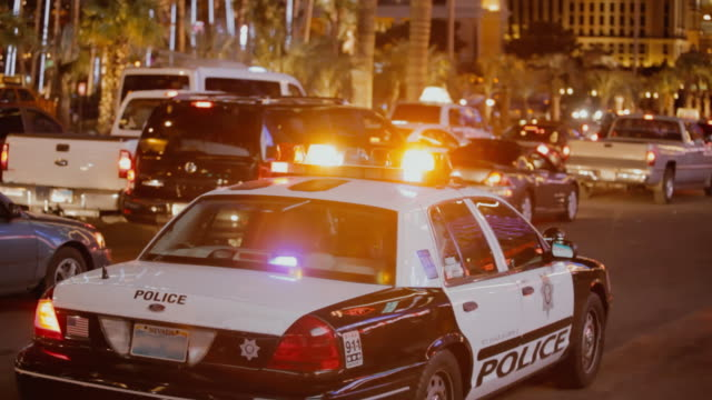 las vegas police car - nevada stock videos & royalty-free footage