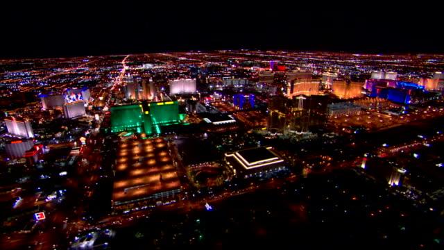 las vegas skyline illuminated - the strip las vegas stock videos & royalty-free footage