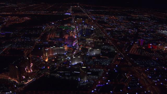 las vegas strip aerial - the strip las vegas stock videos & royalty-free footage