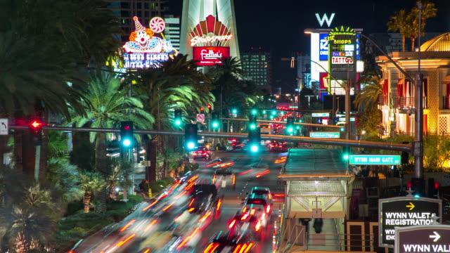 las vegas strip at night, nevada, united states - the strip las vegas stock videos & royalty-free footage