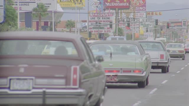 las vegas strip traffic - las vegas stock videos & royalty-free footage