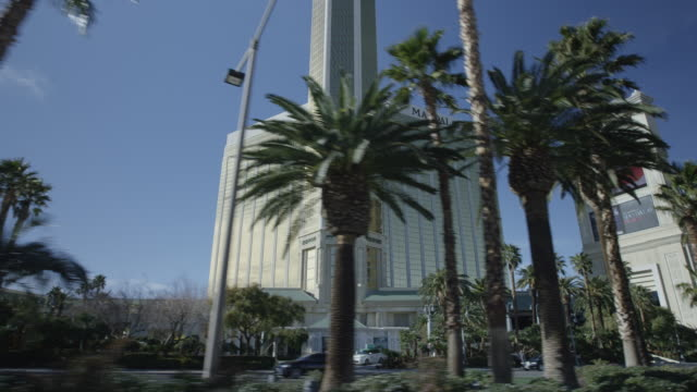 las vegas strip - mandalay bay resort and casino stock videos and b-roll footage