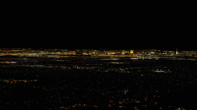 las vegas strip view at night - the mirage las vegas stock videos & royalty-free footage