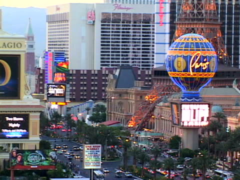 las vegas - replica eiffel tower stock videos & royalty-free footage