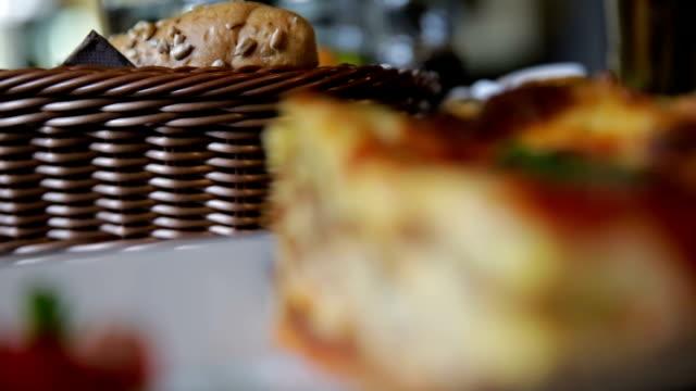 lasagna closeup - lasagna stock videos & royalty-free footage